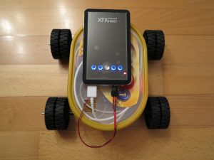 Raspberry PI - remote controlled car with a Raspberry Pi power supply 3
