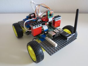 LEGO brick wheel robot Raspberry Pi - ready to rumble