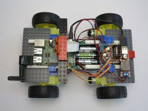 LEGO brick wheel robot Raspberry Pi - overview