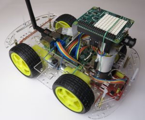 Raspberry Pi robot Sense Hat connected