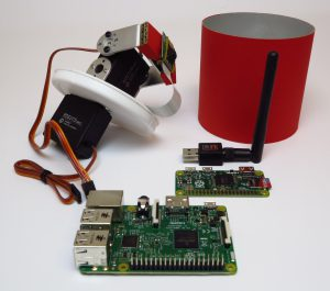 custom build security robot - Raspberry Pi Pan&Tilt kit