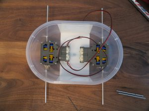 Raspberry PI - remote controlled car in a plastic box