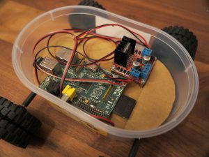 Raspberry PI - remote controlled car with a Raspberry Pi with connected wires