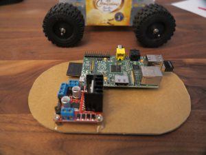 Raspberry PI - remote controlled car electronics