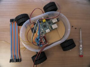 Raspberry PI - remote controlled car with a Raspberry Pi robot car