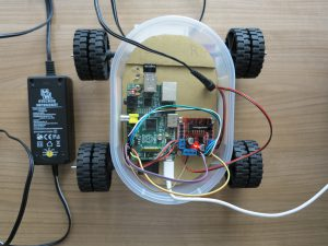 Raspberry PI - remote controlled car with a Raspberry Pi power supply