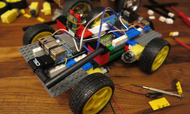 Raspberry Pi Robot – remote-controlled robot car made of LEGO® bricks