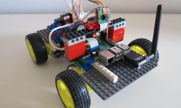 RC car build of LEGO® bricks with a Raspberry Pi