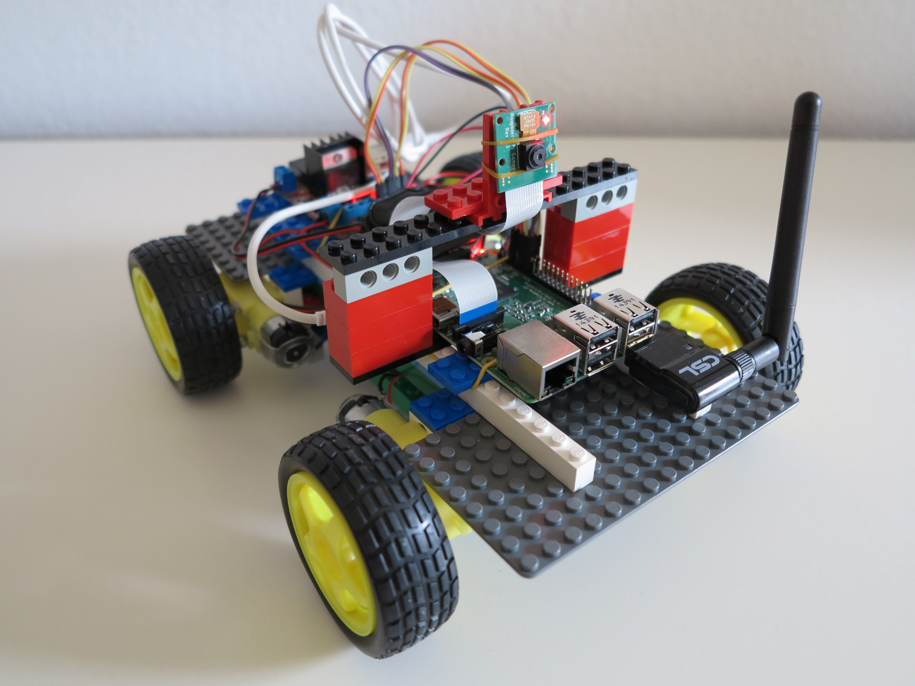 Lego Brick Wheel Robot Raspberry Pi Ready To Rumble