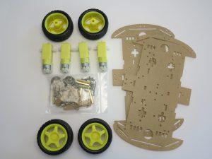 Smart robot chassis Acrylic Bausatz