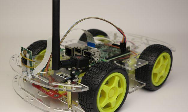 Raspberry Pi Roboter – Smart Car Acryl-Glas Roboter Bausatz