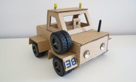 Cardboard robot with a Raspberry Pi
