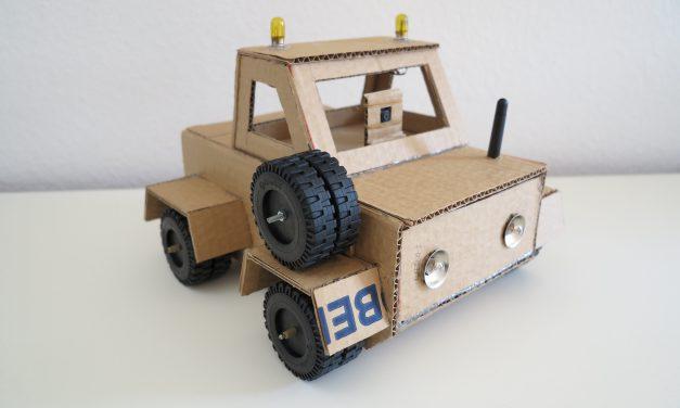 Raspberry Pi Roboter – ferngesteuerter Pappe-Roboter