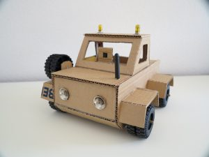 Cardboard robot front view