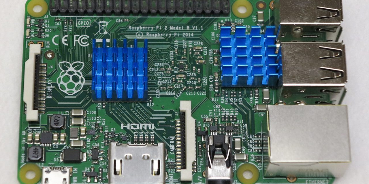 Raspberry Pi single board computer – heatsink kit
