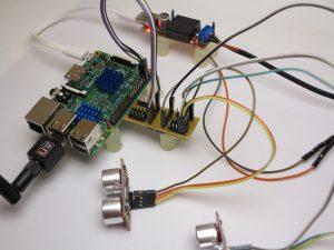 I2C Hub with two SRF08 ultrasonic sensors