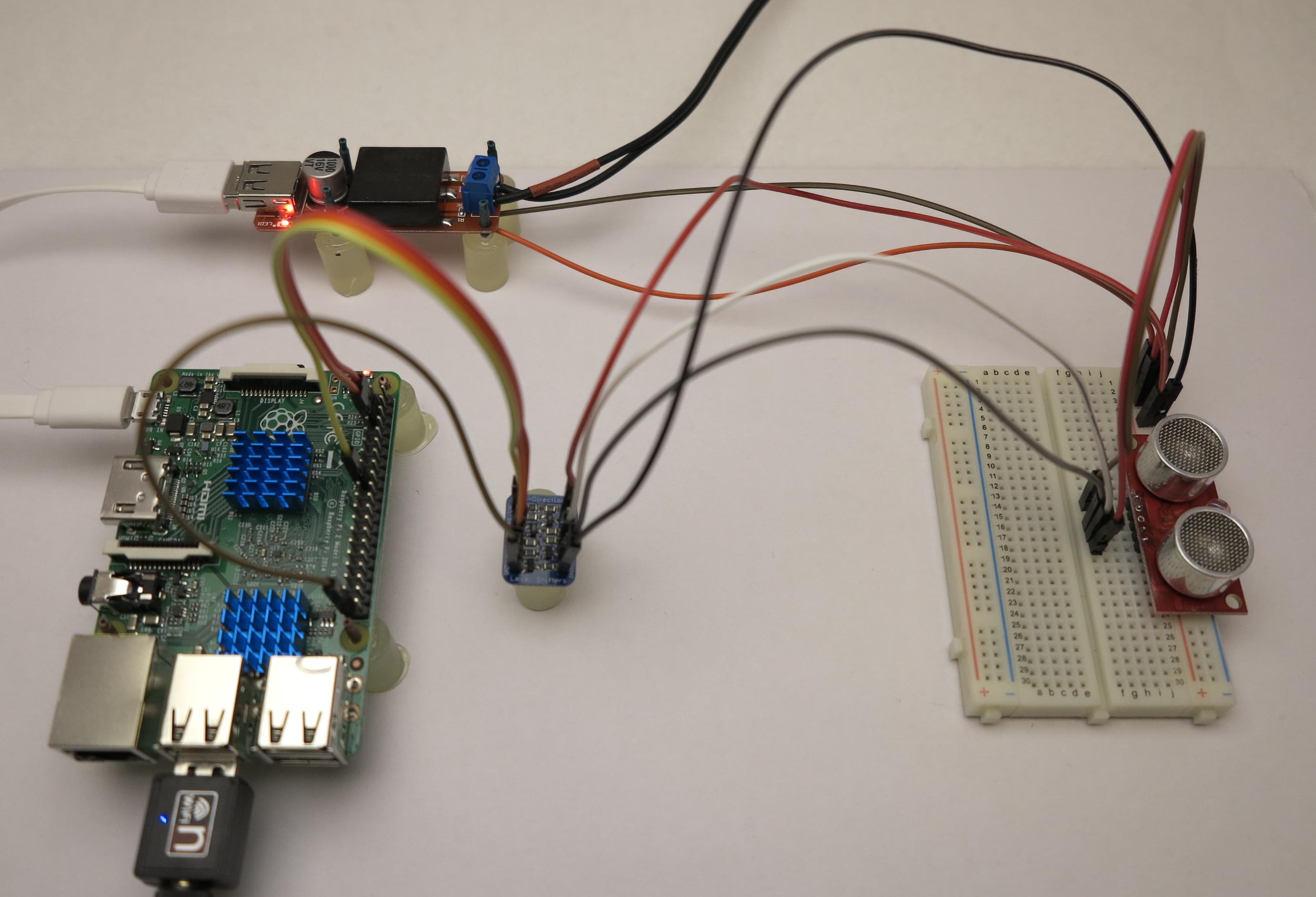 Ultraschall Entfernungsmesser I2c : Raspberry pi und der srf ultraschallsensor mit i c bus zur