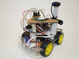 custom build robots self-driving robot left side