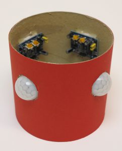 custom build security robot - IR-sensors