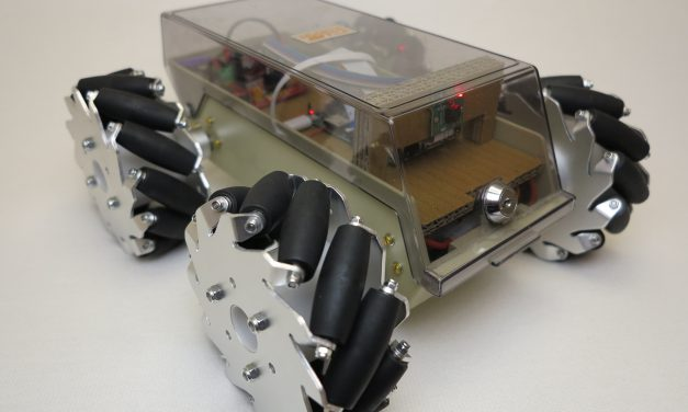 Robot with mecanum wheels