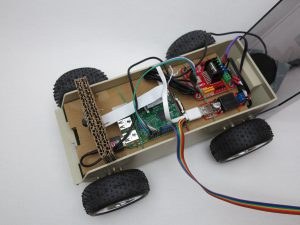Raspberry Pi self-driving robot-car 14