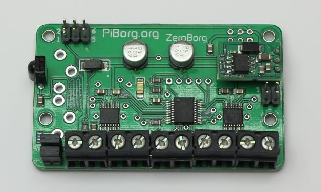 ZeroBorg – motor controller for your RaPi Zero