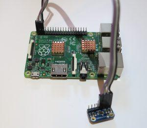 Der MCP9808 Temperatursensoren verkabelt