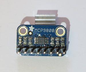 Der MCP9808 Temperatursensoren mit Stiftleiste