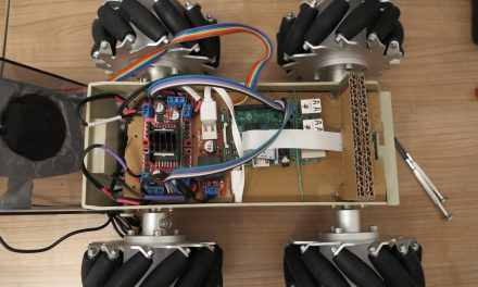 Raspberry Pi Robot with mecanum omnidirectional wheels
