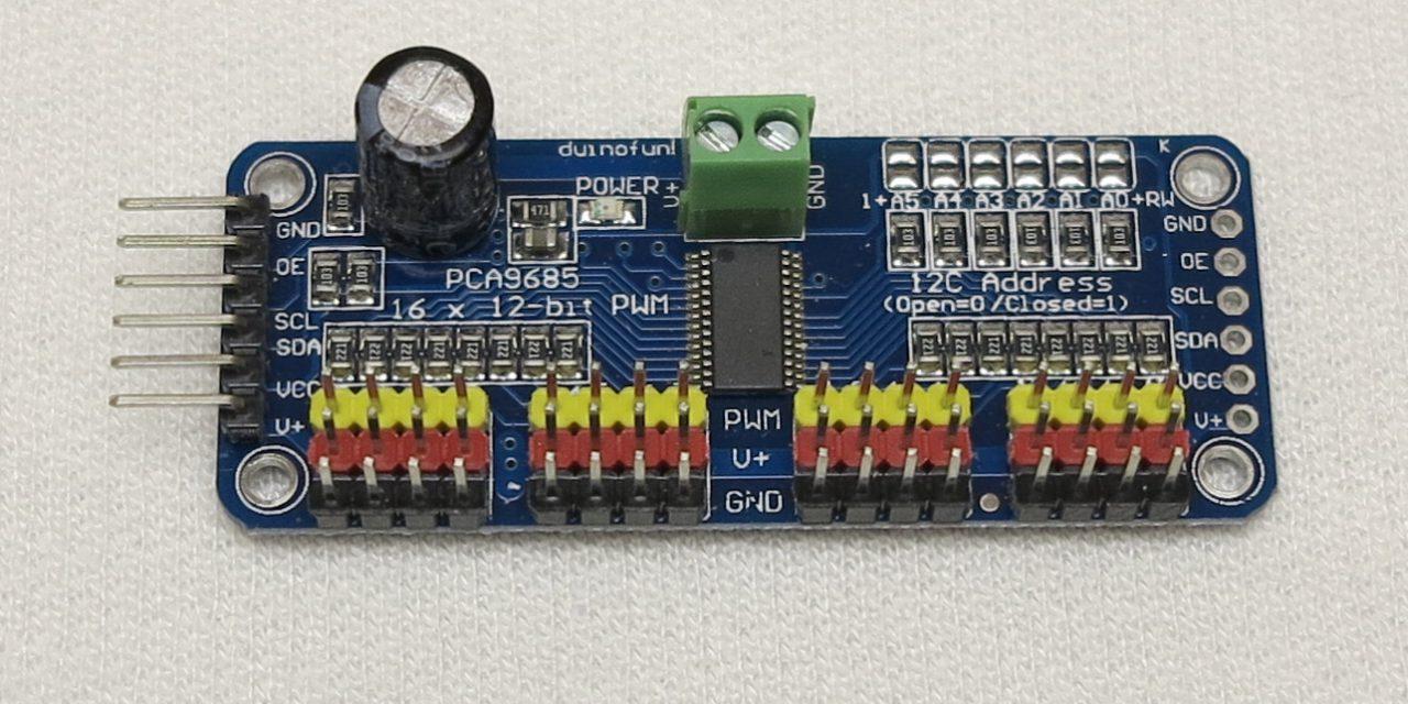 16-Kanal PCA9685 Servo Kontroller – Teil 1 Einführung und Aufbau