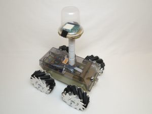 Raspberry Pi robot with mecanum wheels front