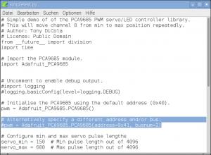 Adafruit simpletest servo Python Programm