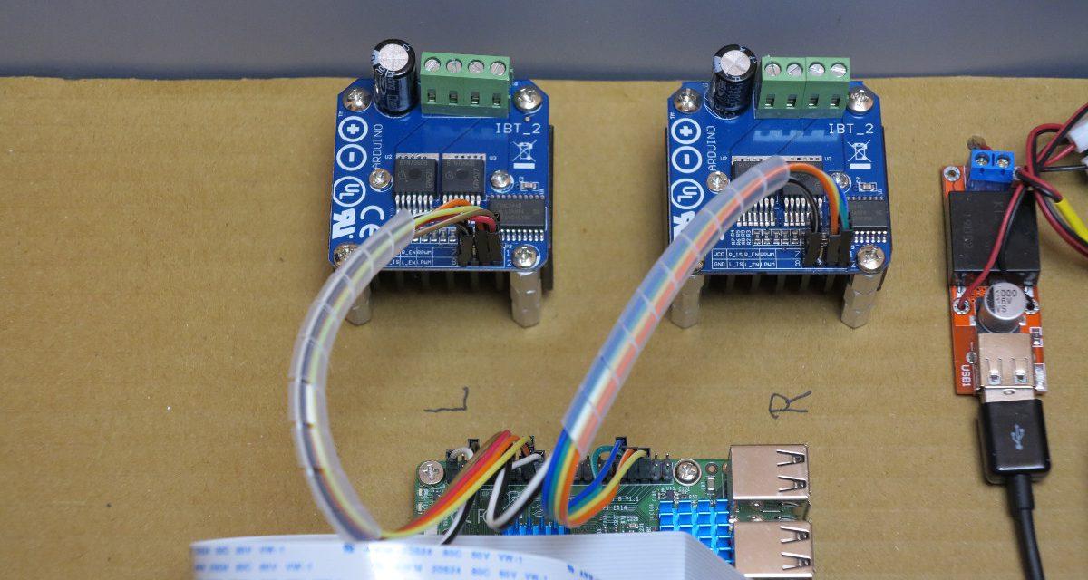 Big Rob – Raspberry Pi robot motor driver BTS7960B and Python program