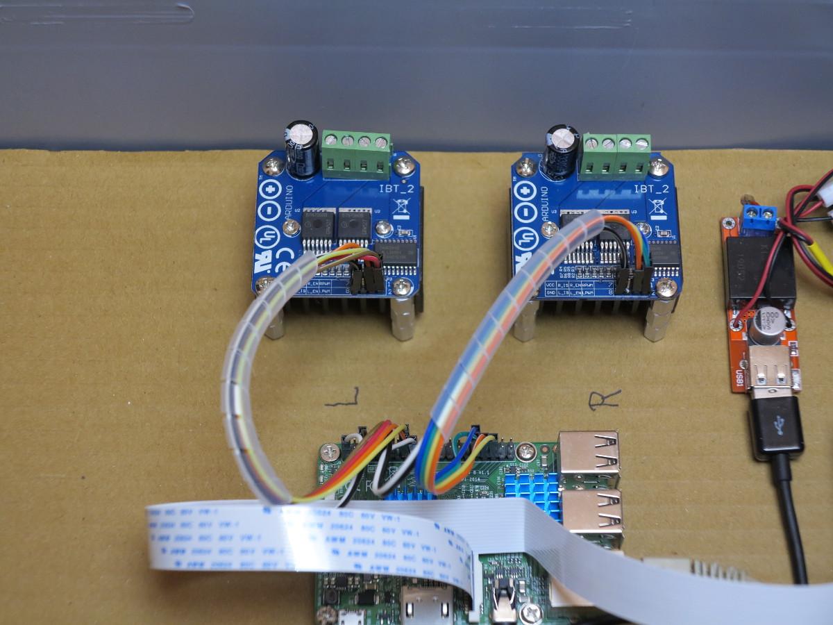 Big Rob Raspberry Pi Robot Motor Driver Bts7960b And Python How To Build An Hbridge Circuit 43a H Bridge Wired