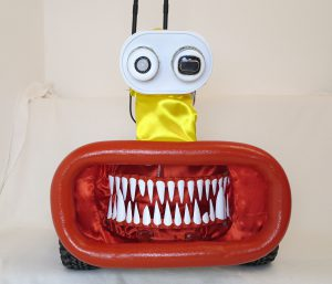 Raspberry Pi robot Big Rob shining teeth