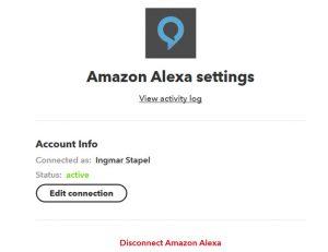 Amazon Alexa mit IFTTT verbinden aktiv