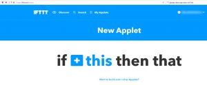 Anlegen eines IFTTT Applets