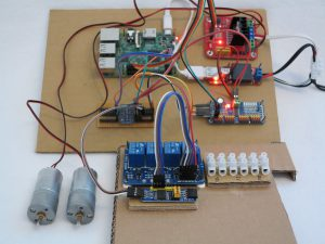 PCF8574 test setup with all electronics