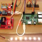 Raspberry Pi - LED dimmer with a PCA9685 servo controller