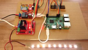 Raspberry Pi - LED dimmer active