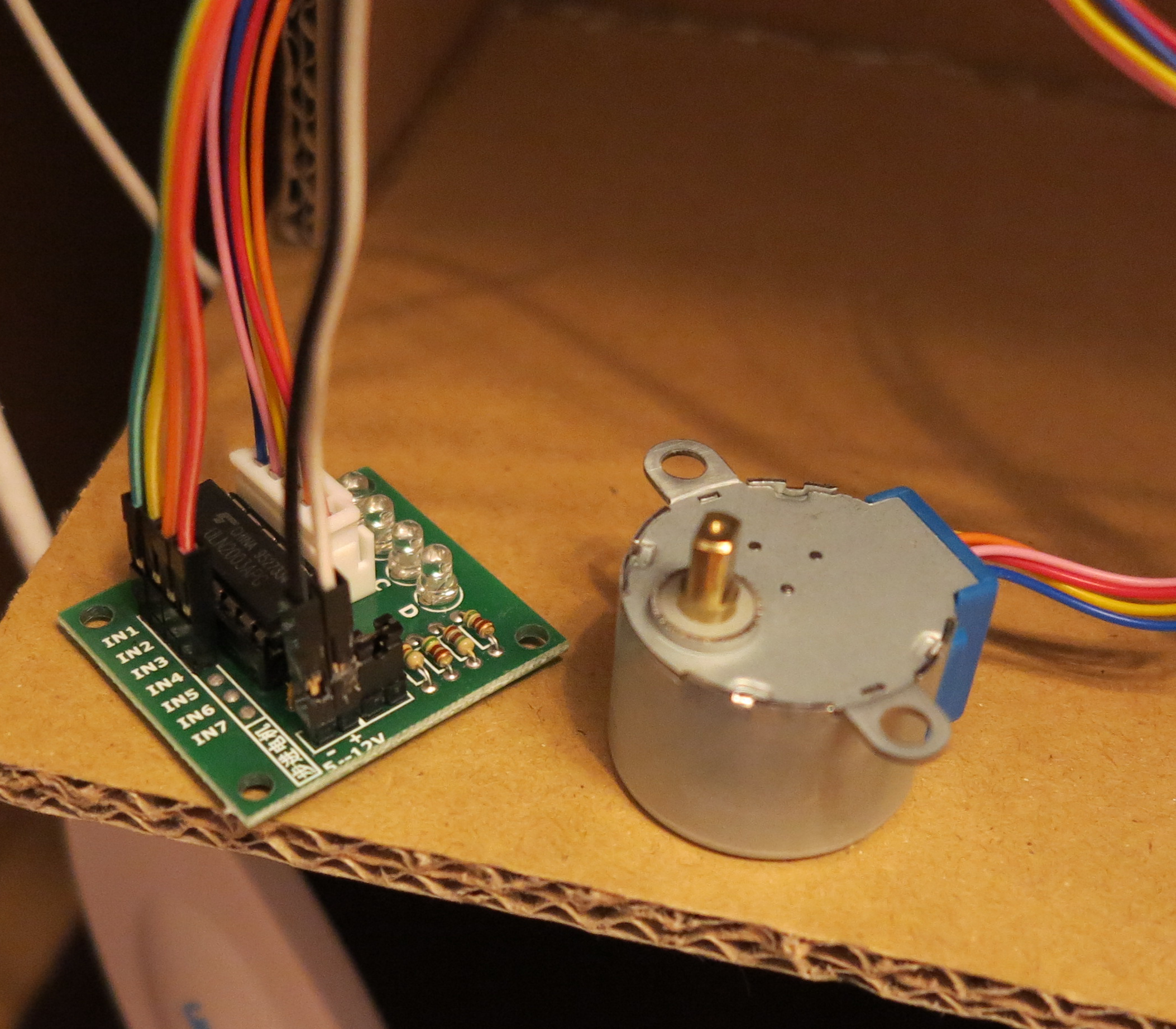 Stepper Motor 28byj 48 Uln2003a Controller Raspberry Pi And Circuit Diagram For Dvd Servo Control