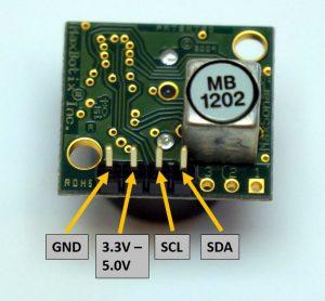 MaxBotix I2CXL MaxSonar EZ pin ID
