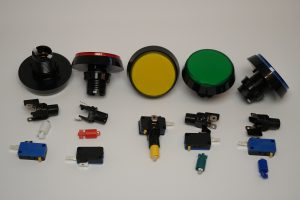 Toy robot - control panel arcade buttons
