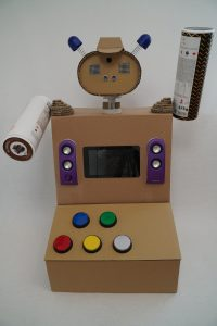 Toy robot - control panel assembled