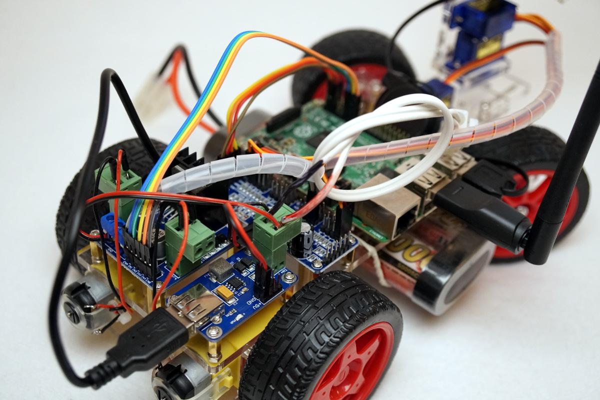 SunFounder Roboter Bausatz – Smart Video Car Verkabelung - Raspberry ...