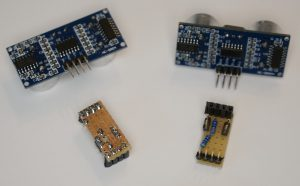 HC SR04 Ultraschall Sensor mit Platine