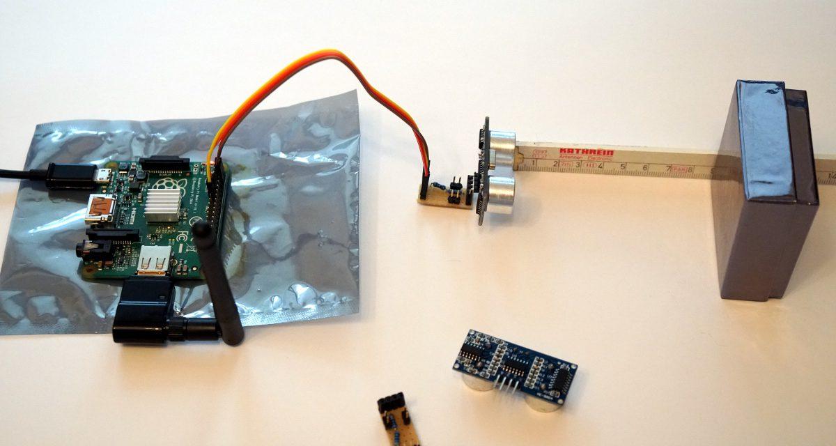 Ultraschall Entfernungsmesser Test : Entfernungsmessung mit dem hc sr ultraschall sensor und einem