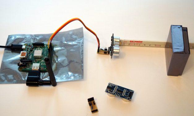 Entfernungsmessung mit dem HC-SR04 Ultraschall Sensor und einem Raspberry Pi