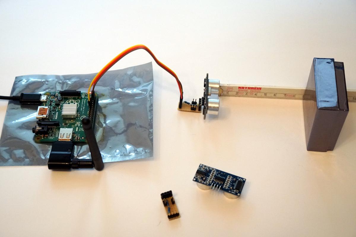 Entfernungsmessung mit dem hc sr ultraschall sensor und einem