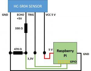HC SR04 - Verkabelung